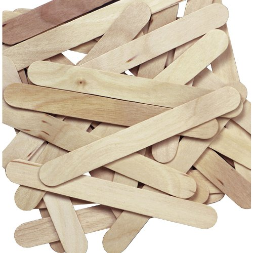 Natural Jumbo Wood Craft Sticks - 100 pcs
