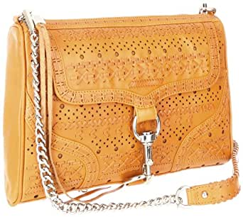Rebecca Minkoff MAC Perf Weave Convertible Cross-Body Handbag,Natural,One Size