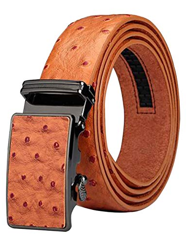 (Men's Belt Ratchet Leather Dress Belt with Automatic Buckle 35mm Wide 27