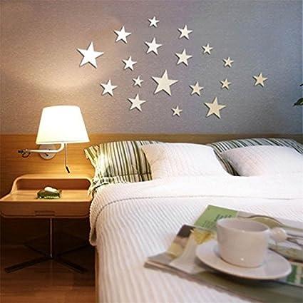 Beautiful VancyTop Silver Stars Mirror Effect Acrylic Wall Sticker For Kidsu0027 Room  Nursery Babysu0027 Room Decoration     Amazon.com