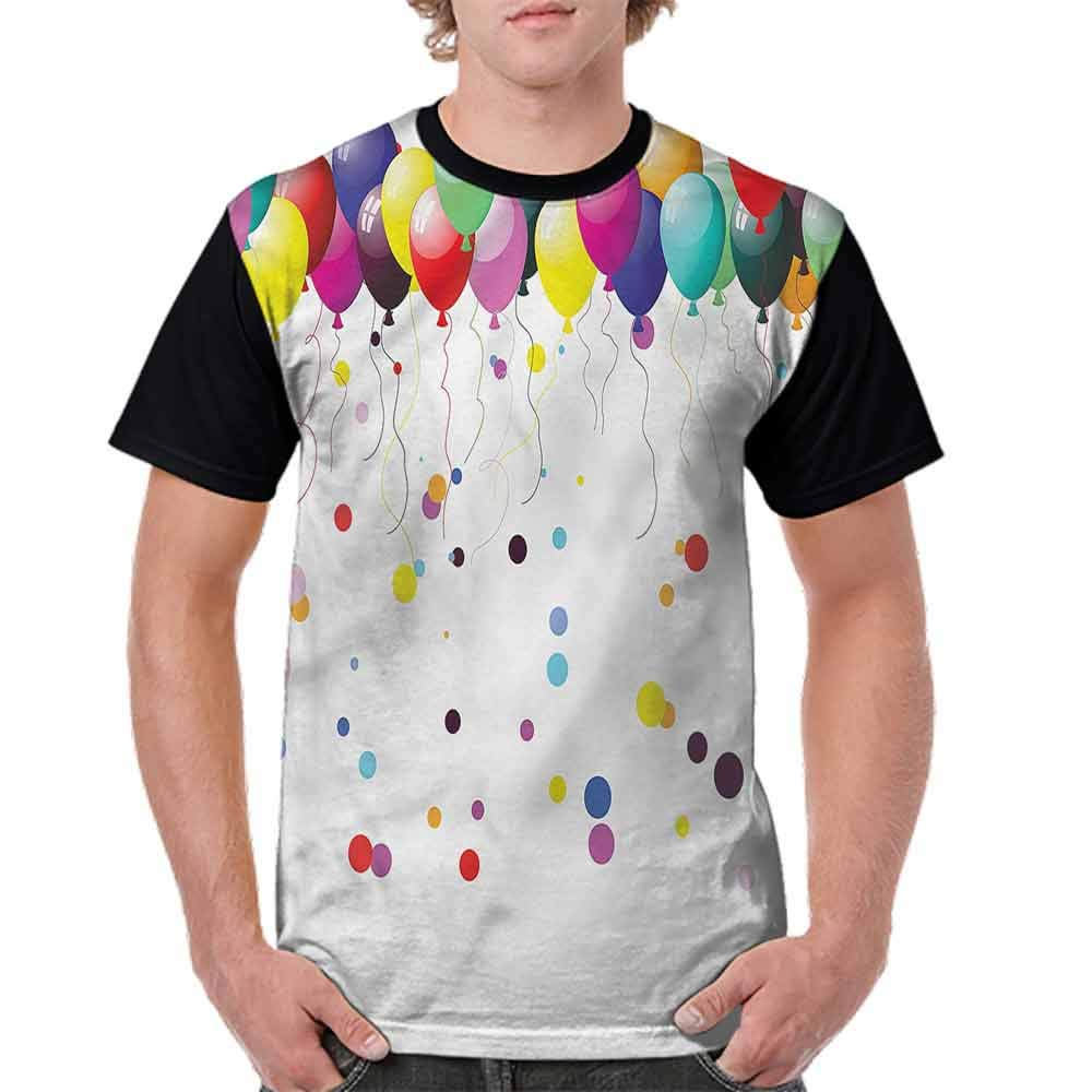 Loose T Shirt,Party Balloons in The Air Fashion Personality Customization