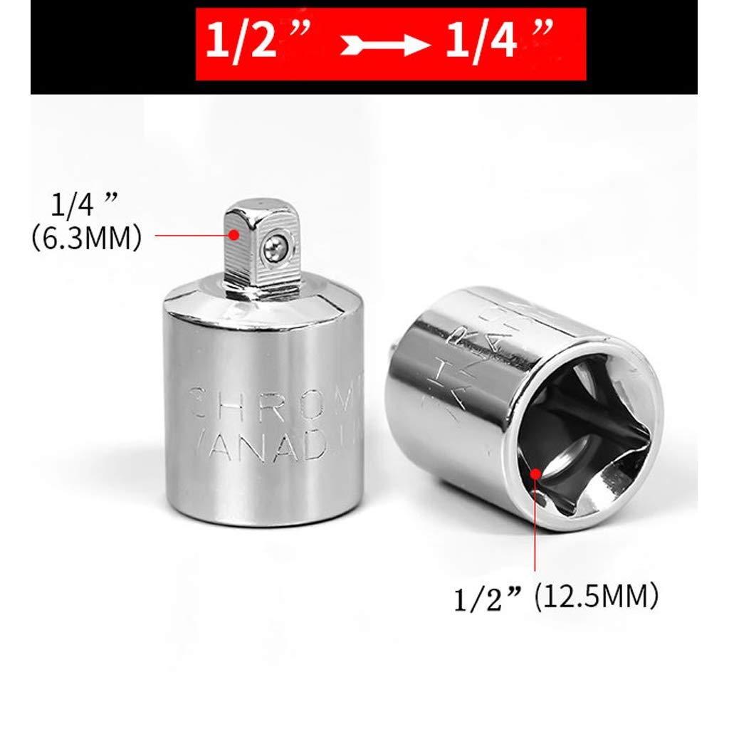 Size : 6-Piece Set Sgfccyl 1//4 3//8 1//2 Cl/é /à cliquet Adaptateur en Acier Chrome Vanadium Sleeve Drive Adapter Socket Converter Cl/é /à Manches Convertisseur commun