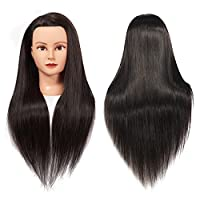 """Training Head 26""""-28"""" Mannequin Head Hair Styling Manikin Cosmetology Doll Head Synthetic Fiber Hair Hairdressing Training Model Free Clamp"""