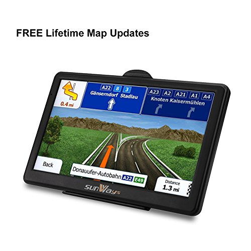 GPS Navigation for Car, 7 Inch Car GPS Navigation System 8GB Touch Screen Vehicle GPS Navigator with Lifetime Map Update by Car Band