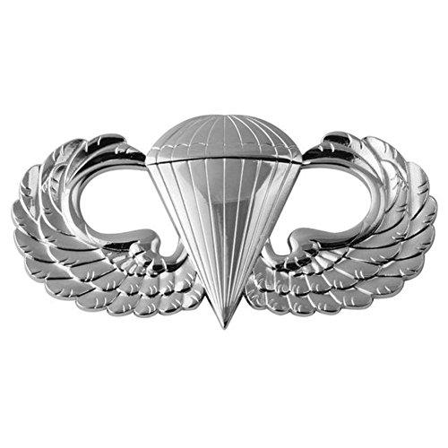 Parachutist Silver Metal Auto Emblem