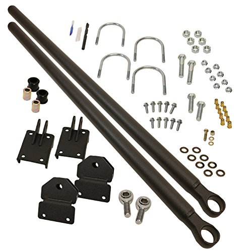BD Diesel 1032130 Track Bar Kit Incl. Drivers And Pass. Side Track Bars/Threaded Connectors/Bushings/All Necessary Hardware Track Bar Kit