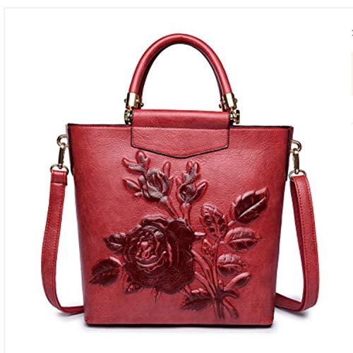 Women s Bag 2018 New Good Quality Wild Chinese Style Embossed Handbags  Fashion Handbag Big Bag Shoulder 60496374b2