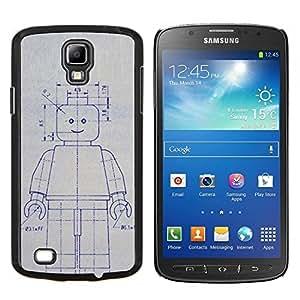 """For Samsung Galaxy S4 Active i9295 Case , Robot de la máquina de dibujo Sketch Ai Arte Futuro"""" - Diseño Patrón Teléfono Caso Cubierta Case Bumper Duro Protección Case Cover Funda"""