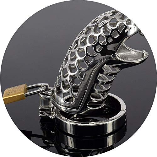 Gloriouu Shirt Couple Ring Intimacy Snake Shape Stainless Steel Male Chástí-ty Device Cage Virginity Lock Male Lock Ring Chástí-ty Belt F-950,38mm