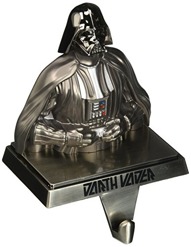 Kurt Adler Star Wars Gun Metal-Plated Darth Vader Stocking Hanger