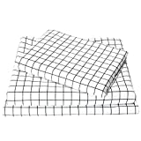 Exclusivo Mezcla 3-Piece Gingham Plaid Double Brushed 1800 Series Microfiber Bed Sheets Set (Twin, White)- Fitted Sheet+ Flat Sheet+ Pillowcase, Wrinkle, Fade & Stain Resistant and Hypoallergenic