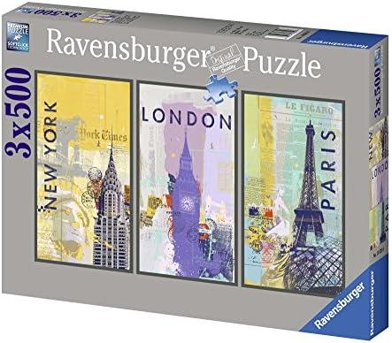 Ravensburger - 16329 - Puzzle Classique - Voyage Autour Du Monde - 3 X 500 Pièces