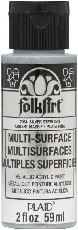 FolkArt multisurface metallic paint, 2 oz, Sterling Silver