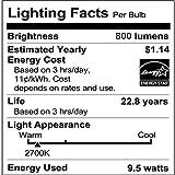 Philips LED Dimmable A19 Frosted Light Bulb: 800-Lumen, 2700-Kelvin, 9.5-Watt (60-Watt Equivalent), E26 Base, Soft White, 8-Pack (Old Generation)