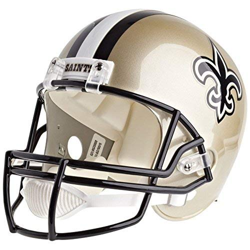 New Orleans Saints Replica Helmet - Riddell New Orleans Saints Officially Licensed VSR4 Full Size Replica Football Helmet