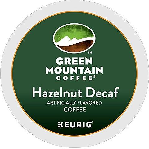 Green Mountain Coffee Hazelnut Decaf, Keurig K-Cups, 72 Count (Hazelnut Roasted)