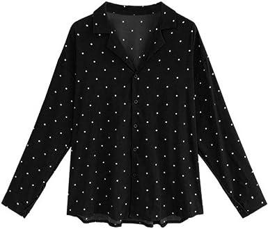 Sylar Camisas Mujer Tallas Grandes Camisa Mujer Manga Larga Camisa De Estampado Lunares Suelto Camiseta Mujer Solapa con Botones Primavera Otoño Blusa De Mujer Elegante: Amazon.es: Ropa y accesorios