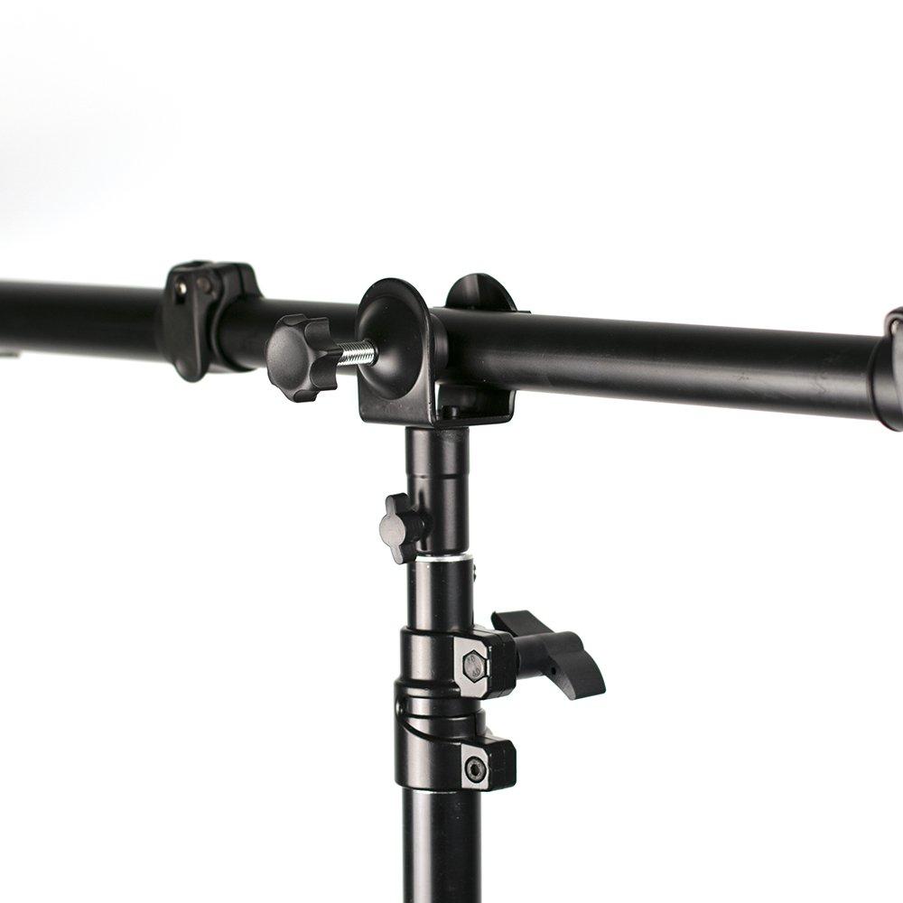 Phot-R 53/cm Cuello de Ganso Studio Clip Clamp y 1//4-inch Stud Espiga con Brazo Flexible Flex de fotograf/ía reflectores/ /Negro