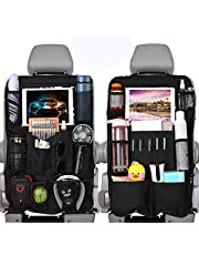 """WonVon Car Backseat Organizer with 10"""" Clear Screen Tablet Holder and USB/Headphone Slits Car Organizers Seat Back Protectors for Toys Drinks Book Kids Toddler Travel Accessories(2 Pack)"""