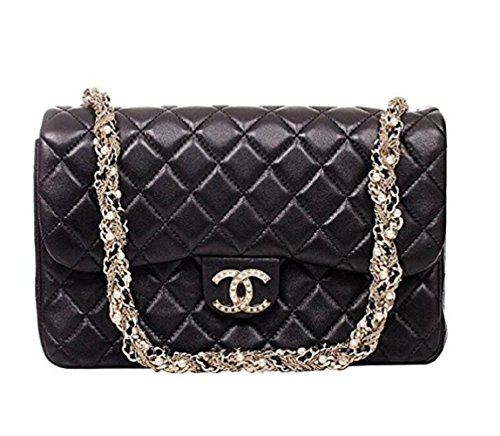 Simple Women's CF Series Medium Pearl Chain Handbag - Chanel Real Leather