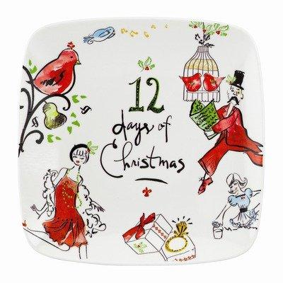 Lenox 12 Days of Christmas Square Platter (Square Lenox Platter)