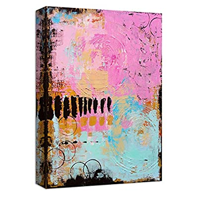 Canvas Wall Art Abstract Colorful Painting Artwork for Home Prints Framed - 12x18 inches