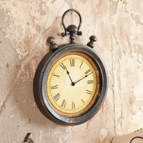 Cape Craftsmen 6CL014 Everyday Retro Stopwatch Metal Wall Clock, 5'' x 35.5'' x 51'', Multicolored