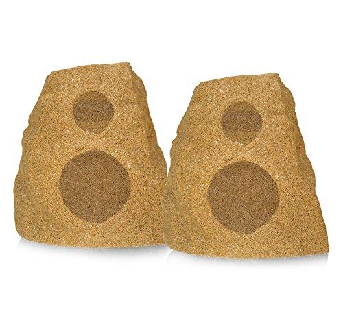 Klipsch AWR-650-SM All Weather 2-way Rock Speakers - Pair (Sandstone) (Klipsch 650)