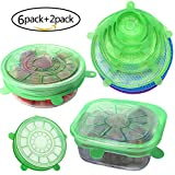 Kitchen & Housewares : Silicone Stretch Lids Reusable,Set of 6 Durable Silicone Food Saver Covers,Expandable to Fit Various Sizes and Shapes of Containers. Superior for Keeping Food Fresh.Best Gift For Friends