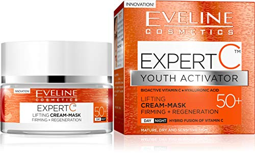 Eveline Expert C Mask Firming Lifting Day and Night Cream 50+ for Dry and Sensitive Skin 50m