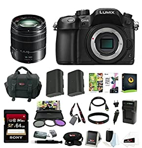 Panasonic Lumix GH4 Mirrorless Camera w/ 14-140mm Lens & 64GB SD Card Bundle