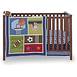 Little Bedding by NoJo 4-Piece Crib Bedding Set - High Five Sports