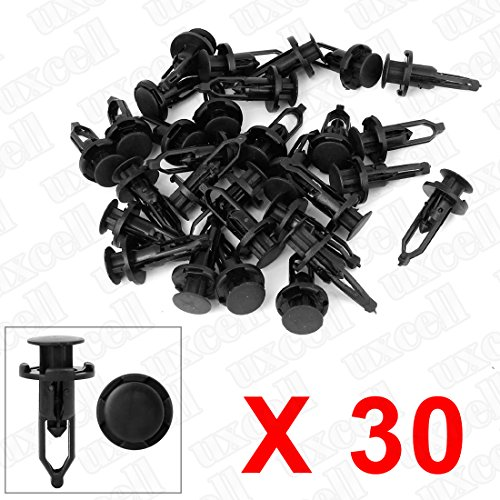 uxcell 20 Pcs Push-Type Automotive Clips Rivet Retainer Fender Bumper Fasteners Clips Ref 52161-02020 for Toyota