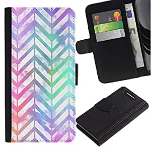 Supergiant (Chevron Pattern Iridescent White Purple) Dibujo PU billetera de cuero Funda Case Caso de la piel de la bolsa protectora Para Sony Xperia Z3 Compact /D5803 / D5833
