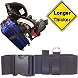 Jolik Car Seat Travel Belt/Car Seat Travel Strap to Convert Your Car Seat On Luggage - Extra Length and Buckle