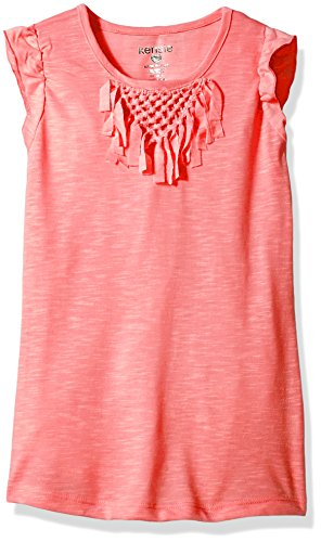 kensie Big Girls' Fashion Tank (More Styles Available), 1307 Apricot, 7/8 by kensie