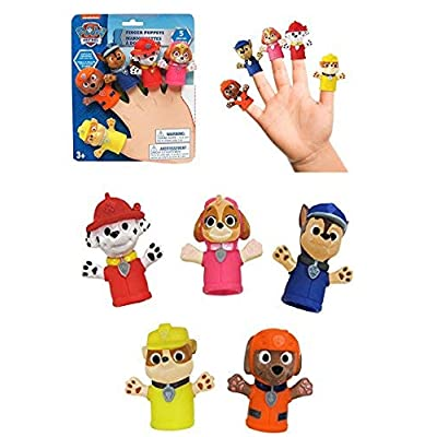 Nickelodeon Paw Patrol - FINGER PUPPETS - Bath Time is Fun With These Playful Finger Puppet Characters!: Toys & Games