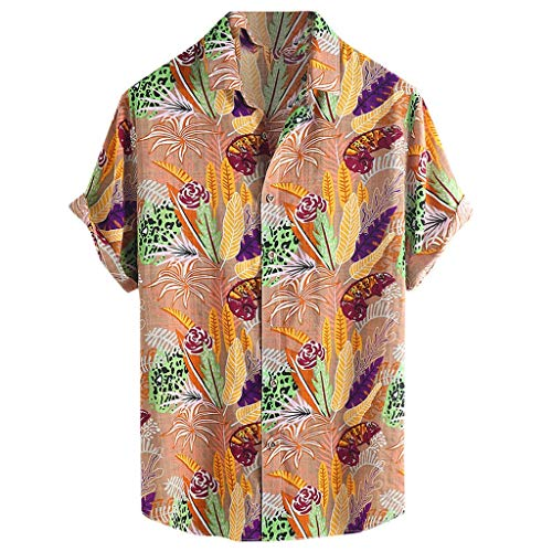 LYN Star ♪ Men's White T-Shirt Hippie Shirt V-Neck Beach Yoga Top Hawaiian Shirts Boho Printed Beach Party Holiday