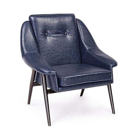 ARREDinITALY - Juego de 2 sillones de Color Azul Vintage ...