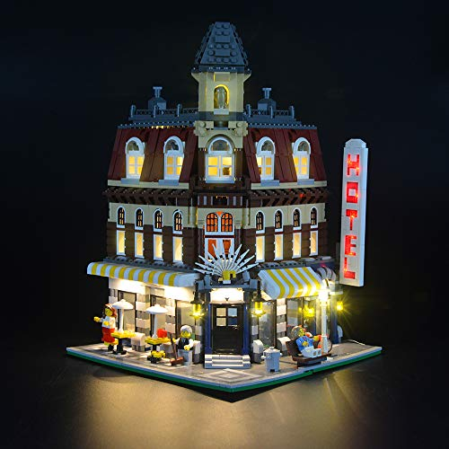 Juego de luces LIGHTAILING para bloques de construcción (Make & Create Cafe Corner) - Kit de luces LED Compatible con Lego 10182 (NO incluido el modelo)