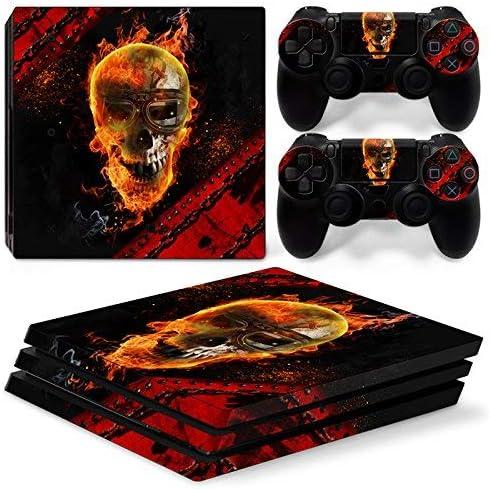 46 North Design Ps4 Pro Playstation 4 Pro Pegatinas De La Consola Skull + 2 Pegatinas Del Controlador: Amazon.es: Videojuegos