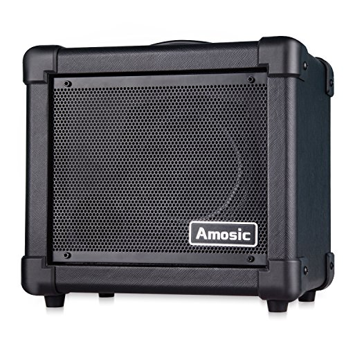 Amosic Guitar Amplifier 10W for Electric Guitar Household Bluetooth Mini Amp Power Supply by Batteries or - Acoustic Portable Amps