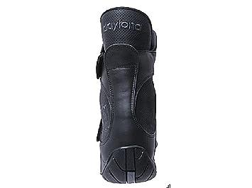 Motorradstiefel SHORTY schwarz Leder Schuhe mit beidseitigem