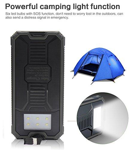 Solar Charger Solar External Battery Pack Ibeek Portable 12000mah Dual Usb Solar Battery