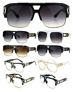 Gazelle B-Boy Square Metal & Plastic Retro Aviator Sunglasses