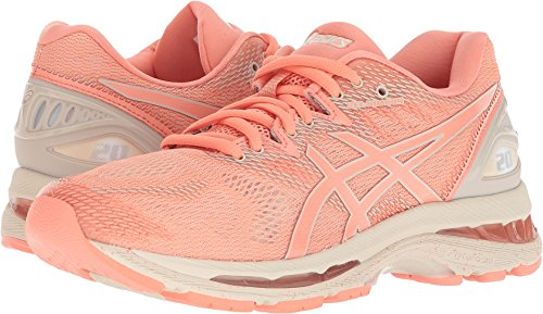ASICS Women's Gel-Nimbus 20 Running Shoe, Cherry/Coffee/Blossom 8.5