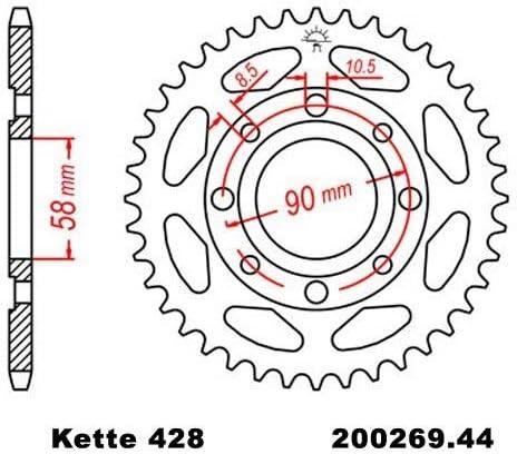 Kettensatz Geeignet Für Cbr 125 R 11 19 Kette Rk 428 H 128 Offen 15 44 Auto