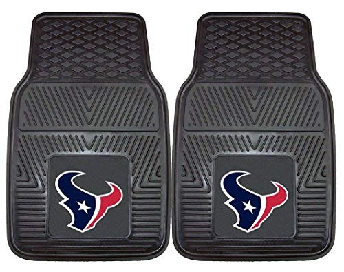 Houston Texans Official NFL 18 inch x 27 inch Heavy Duty Front Seat 2-Piece Car Mat Set by Fanmats