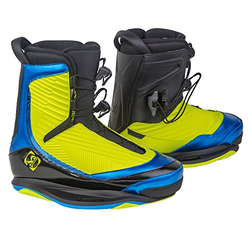 Ronix 2016 One Intuition (Optic Yellow/Anodized Azure) Wakeboard Bindings