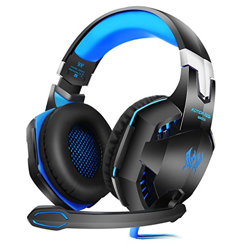LinGear Professional Cancelling Headphones Computer Blue product image